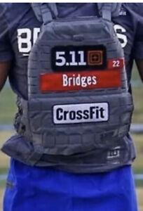 "1x Custom Name Patch 9""x2"" CrossFit Plate Weight Vest Hook And Loop 5.11 Murph ^"