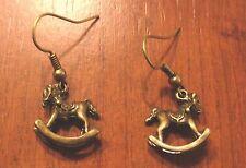 Boucles d'oreilles bronze cheval à bascule