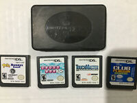 DS Game Lot With Case (Cross Word, Petz Bunnyz, You have Master, Club Penguin)