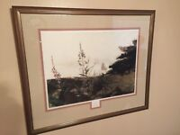 Noted Artist Andrew Wyeth - Under Sail - Print - Matted and Framed -Very Nice !