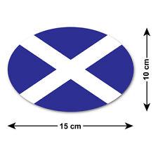 Scozzese Saltire Auto Adesivo / Decalcomania-Bandiera Nazionale di Scozia-OVAL 15x10 cm