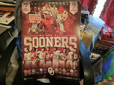 OU Sooners 2012 Football Schedule poster