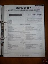 Manuel de service pour Sharp dx-z2000h Lecteur CD, original