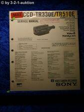 Sony Service Manual CCD TR330E /TR510E (#3682)