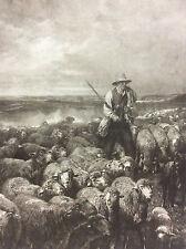 Le grand troupeau Barbizon Charles Emile JACQUE 1813-1894 Hélio G Petit