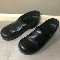 Dansko Women's Slip On Comfort Clogs Shoes Size 41 (US 11) Black, Leather