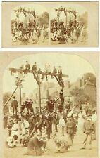 vue stéréoscopique LA RECREATION vers 1870