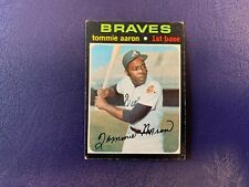 1971 Topps #717 Tommie Aaron ~ Braves ~ Tough Short Print High Number SP
