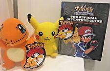 U GET 3 Pokemon Plush Toy CHARMANDER & PIKACHU 19CM & HC GUIDE BOOK FREE POST