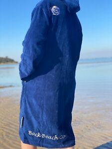 Deep Ocean Navy Hooded Towel Back Beach Co