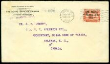 EDW1949SELL : NEWFOUNDLAND Very interesting 11/25/21 Air Mail cover to Halifax