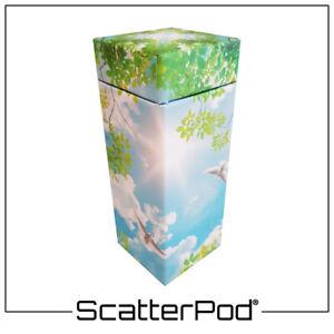 NEW! SPK22 Flying Doves Keepsake ScatterPod - Eco Friendly Scattering Urn