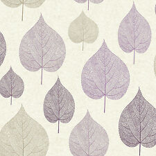 Purple Leaf Wallpaper Signature Plum Brown and Silver Leaves by Crown M1068