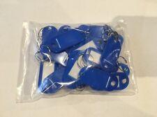 25 x  Plastic Key Ring Tags Name Card Label ID Keyring Keychain Bulk