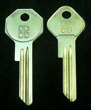 CHRYSLER PLYMOUTH DODGE DESOTO DCPD logo KEY BLANK SET MOPAR 1949-1951 some 1952