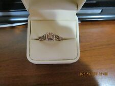 LeVian Chocolate & Vanilla Diamond Ring in 14Kt. Strawberry Gold,  size 9