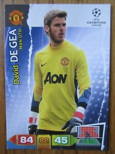 David De Gea of Manchester United Champions League 2011/12 base card