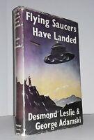 Flying Saucers Have Landed by Leslie  Adamski dust jacket 1954 1st 8th print