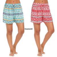 Women Beach Shorts Floral Boho Printed Loose Casual Shorts High Waist Pants