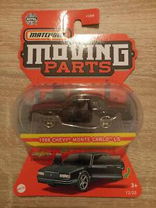 2021 Matchbox '88 Chevy Monte Carlo LS - 1:64 1/64 Moving Parts 12/20 Black