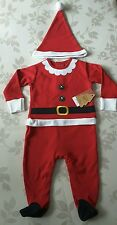 Baby christmas Santa sleep suit with hat 3-6 months BNWT  Gift idea