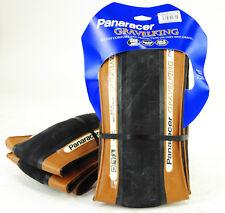 2-PACK Panaracer GravelKing Slick Tire 27.5x1.9 (650B x 48mm) Folding Bead Brown