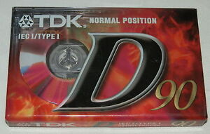 TDK D90 Normal Position High Energy Reliable Cassette Tape Brand New and Sealed