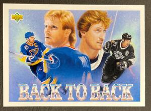 1992-93 Upper Deck Hockey - #434 Brett Hull/Wayne Gretzky - Back-to-Back