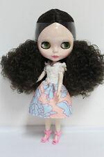 "12"" Takara Neo Blythe Dolls from Factory Nude Dolls Black Wave Curls  2017HN"