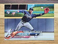 2018 Topps Update Ronald Acuna Jr RC Rookie Debut 📈#us252 Atlanta Braves