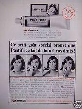 PUBLICITÉ 1965 PANTIFRICE A L'ION MALIQUE DU BIEN À VOS DENTS  - ADVERTISING