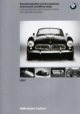 CATALOGUE BMW 2007 OBJETS DE COLLECTION ET ACCESSOIRES AUTOMOBILES MOTOS 115 P