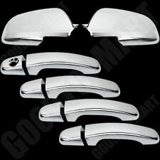 For Chevy Chevrolet Malibu 2008-2012 Chrome Set 4 Door Handle Covers & Mirrors