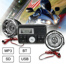 Bluetooth Audio FM Radio MP3 Stereo Speaker Sound System Motorcycle ATV UTV 12V