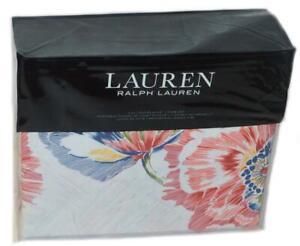 RALPH LAUREN Isadora Floral 3P FULL/ QUEEN DUVET SET Red Blue Yellow $300 French