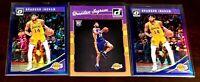 3 CARD LOT 2016-17 Donruss Brandon Ingram 2018 Optic Purple HOLO Pelicans 🔥