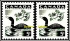 2x CANADA 1957 VINTAGE CANADIAN WILDLIFE LOON DUCK FACE 10 CENT MNH STAMP LOT