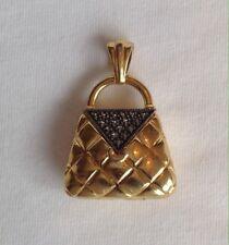 Judith Jack Marcasite Gold Purse Pendant Vermeil Vintage
