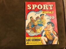 Street & Smith's Sport Comics #1 Street and Smith 1940 Lou Gehrig story