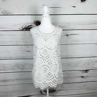 Boden Ivory Embroidered Eyelet Sleeveless Katie Top Women's Size 6