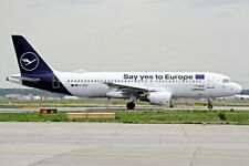 JFOX JFA320031 1/200 LUFTHANSA A320-214 D-AIZQ SAY YES TO EUROPE WITH STAND