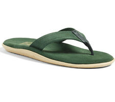 $100 ISLAND SLIPPER Classic Suede Leather Flip Flop Sandal 5 Hand-made Green NEW