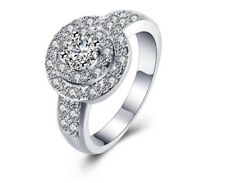 925 Sterling Silver Engagement Dress Ring Sz 7 Women's Jewellery Aus Ladies