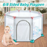 6/8 Sides Panels Baby Playpen Safety Kids Toddler Play Yard Fence Guard Barriers