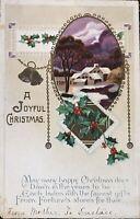 Vintage Embossed Christmas Postcard Free Ship