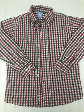 Bella Bliss Boys Pink Green Button Long Sleeve Shirt Size 7