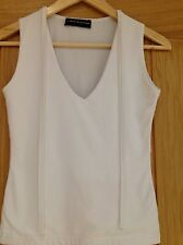 JANE NORMAN LADIES WHITE TOP , SIZE MEDIUM