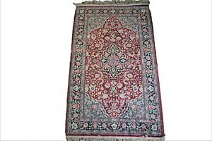 Oriental Style Hand Knotted Silk Rug 3x5