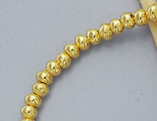 Karen hill tribe Gold  Vermeil Style  20 Solid Seed Beads 3.3x2 mm.