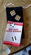Phillip Morris Big Day Dice Games Set - Large Silver Dice - 2007